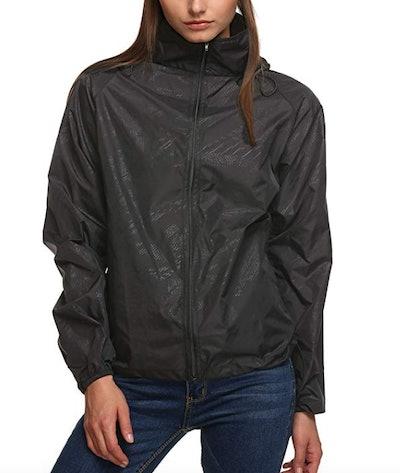 Zeagoo Lightweight Packable Hooded Raincoat