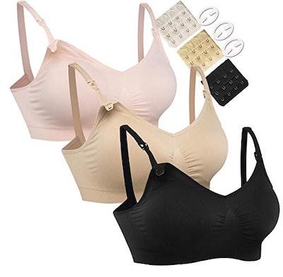 Seamless Maternity Bras Three-Pack