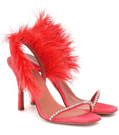 Adwoa Feather-Trimmed Sandals