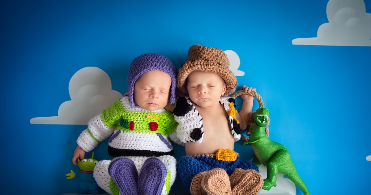 This 'Toy Story' Newborn Photoshoot Featuring Buzz & Woody Will Make You Swoon