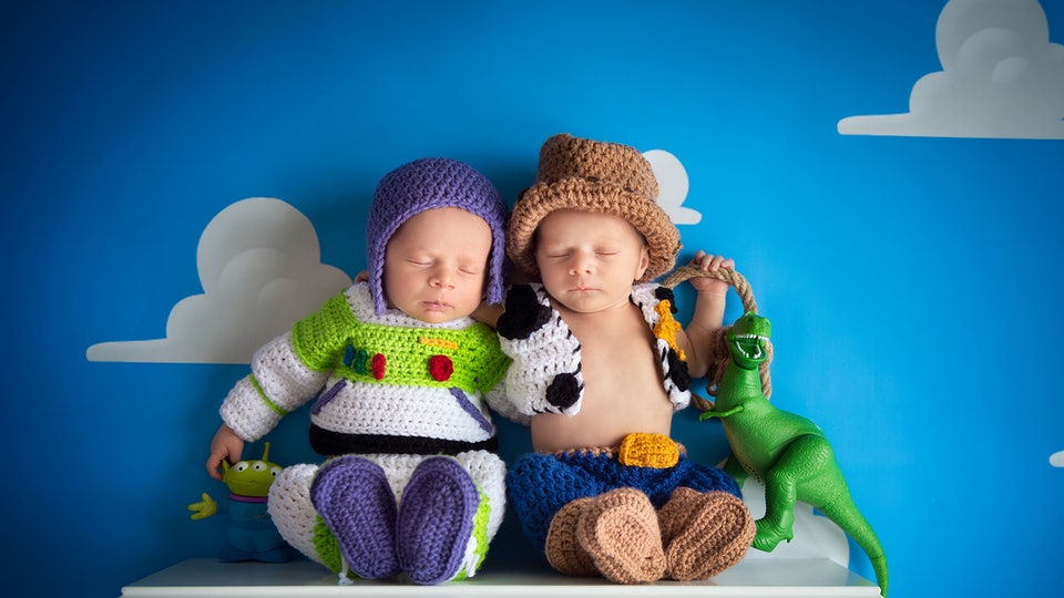 This Toy Story Newborn Photoshoot Featuring Buzz Woody Will Make You Swoon