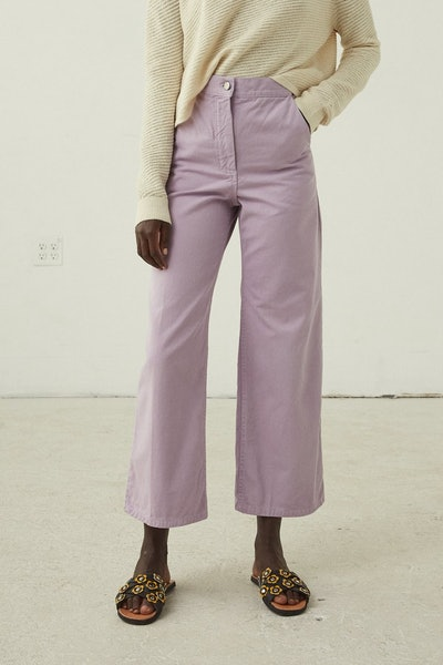 Clean Bishop Pant in Lilac Chino Twill