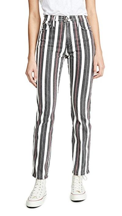 Le Sylvie Band Stripe Jeans
