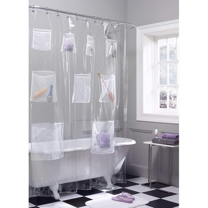 Maytex Mesh Pockets Shower Curtain Liner