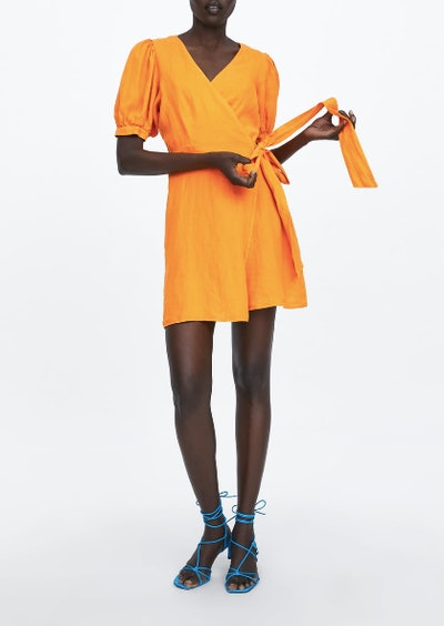 Wrap Linen Dress