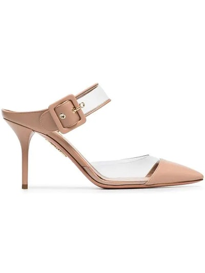 Pink Optic 85 PVC and Leather Mules
