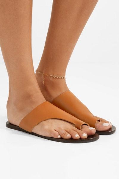Rosa Cutout Leather Sandals