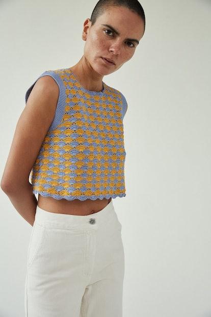 Sedum Top in Periwinkle Crochet