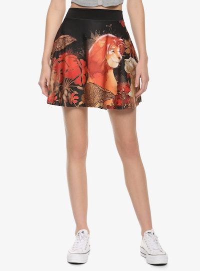 Disney The Lion King Floral Skater Skirt