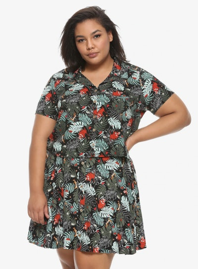 Her Universe Disney The Lion King  Timon & Pumbaa Woven Button-Up
