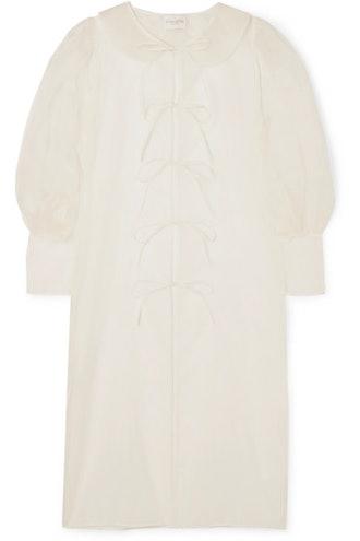 Emilia tie-detailed silk-organza jacket