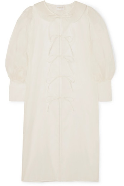 Emilia tie-detailed silk-organza jacket