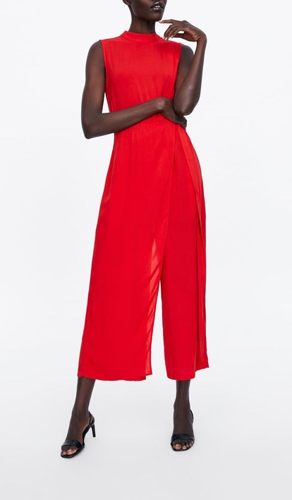 Wide Jumpsuit With Tie