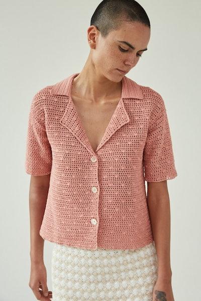 Ripe Top in Blush Lace Crochet