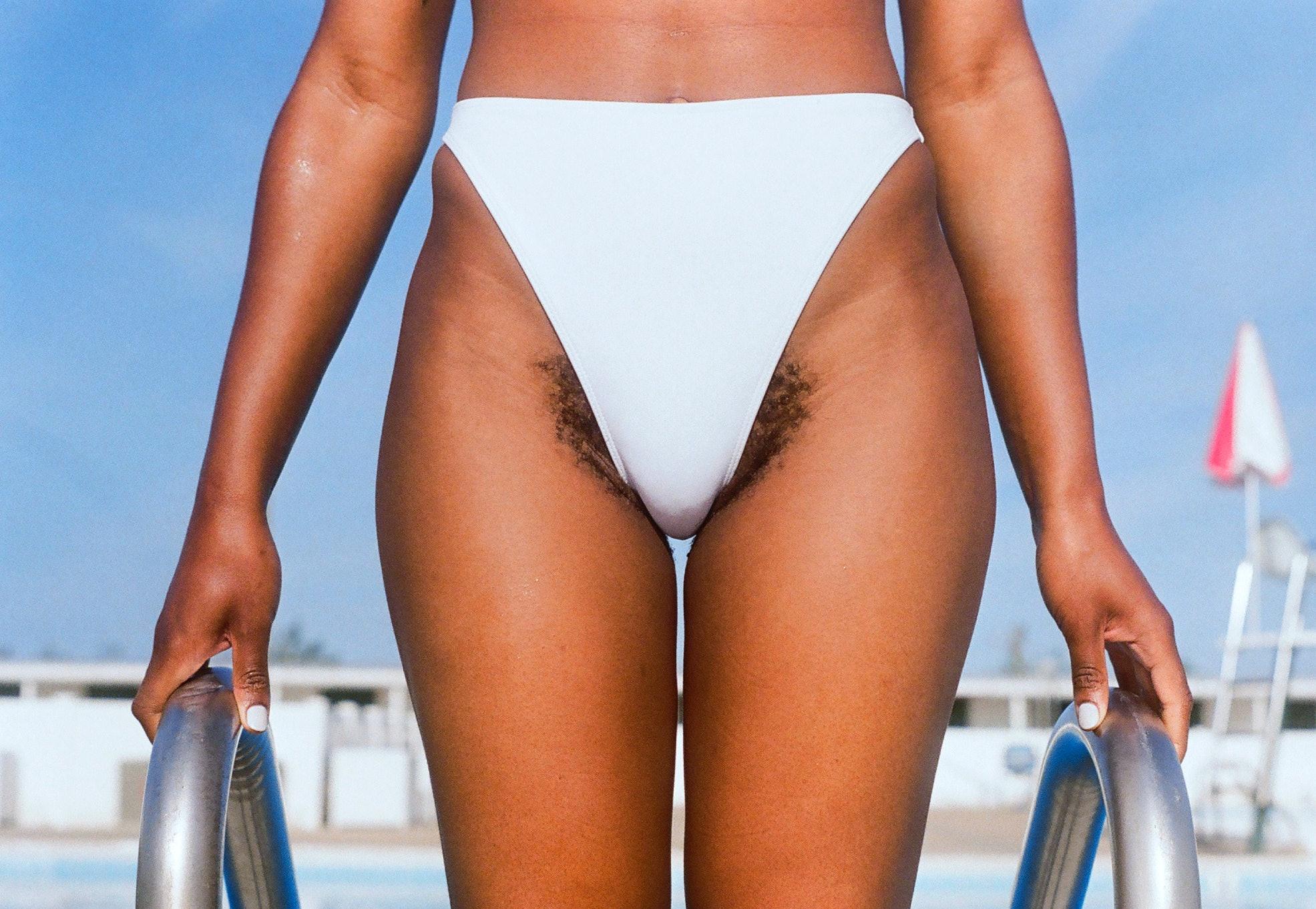 See through bikinis on hairy babes
