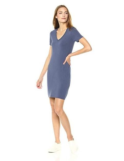 Daily Ritual Jersey Short-Sleeve T-Shirt Dress