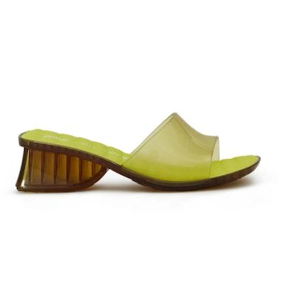 Ladii Mule Sandal in Lime