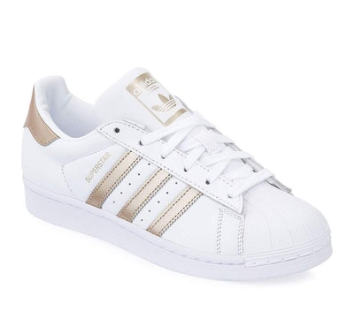 Superstar Lace-Up 3-Stripes Sneakers In Rose Gold