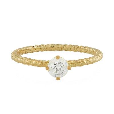 Homespun Solitaire Ring, Diamond