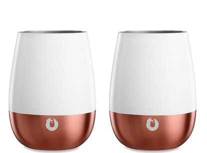 SNOWFOX Insulated Stemless Wine Glasses (Set of 2)