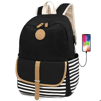 FLYMEI Lightweight Canvas Backpack
