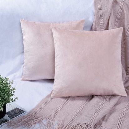 YINFUNG Velvet Pillow Covers (2 Pack)