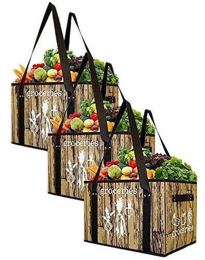 Earthwise Reusable Grocery Bag Set (Set of 3)