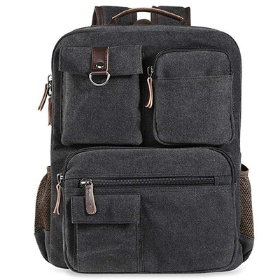 Camptop Vintage Canvas Laptop Backpack