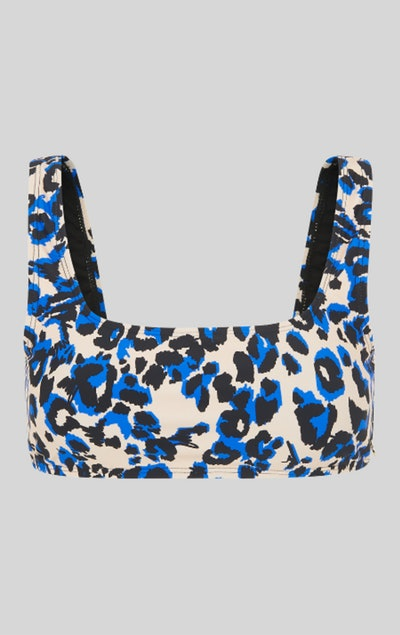 Animal Square Neck Bikini Top