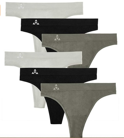 Balanced Tech Quick-Dry Breathable Seamless Thong Panties (6 Pack)