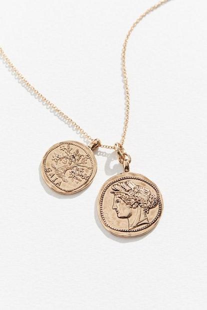 Mia Colona & UO Exclusive Coin Pendant Necklace