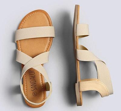 Sandalup Elastic Flat Sandals
