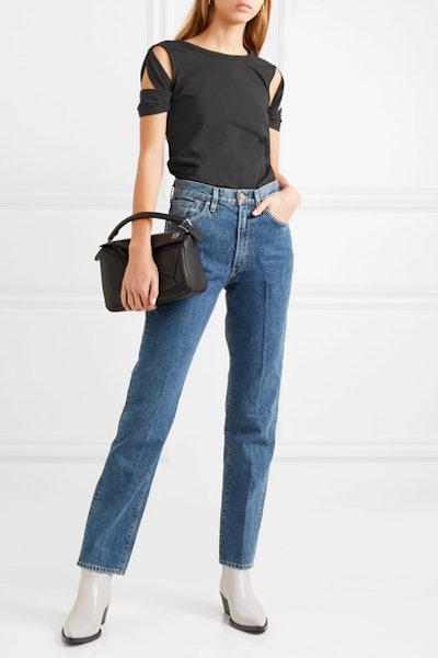 Cutout Cotton-Jersey T-shirt