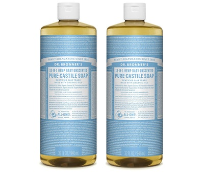 Dr. Bronner's Baby Unscented Pure Castile Liquid Soap (2-Pack)