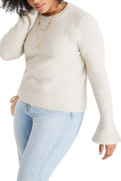 Ruffle Cuff Pullover Sweater
