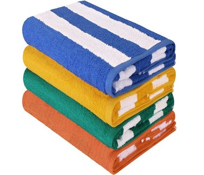 Utopia Towels Cabana Stripe Beach Towels (Set of 4)