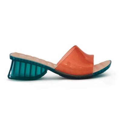Ladii Mule Sandal in Burnt Orange