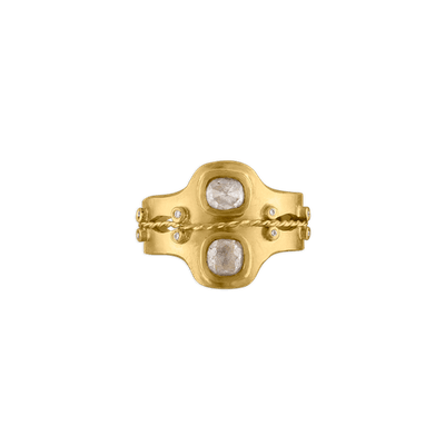 Diamond Double Bezel Ring