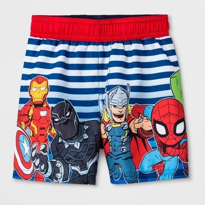 Toddler Boys' Marvel Avengers Swim Trunks - Blue