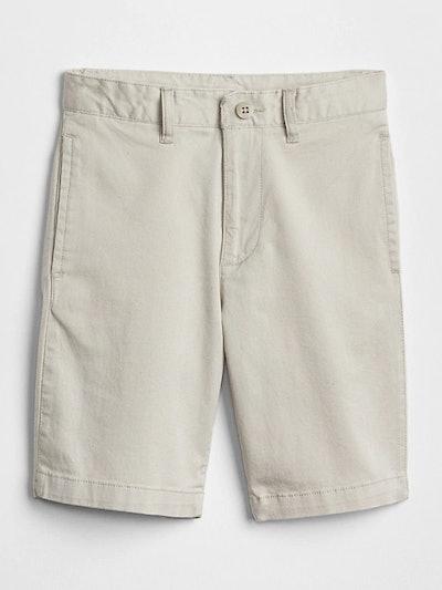 Kids Khaki Shorts in Stretch