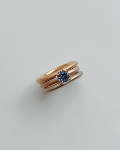 18k Venetian Rose Gold Solitaire with Montana Sapphire
