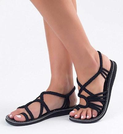 Plaka Flat Palm Leaf Sandals