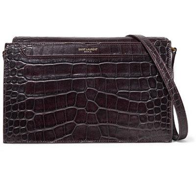 Catherine Croc-Effect Leather Shoulder Bag