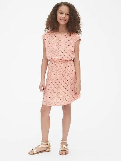 Kids Floral Drapey Dress