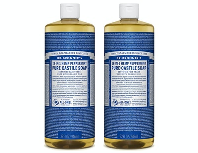 Dr. Bronner's Pure-Castile Soap - Peppermint (2 Pack)