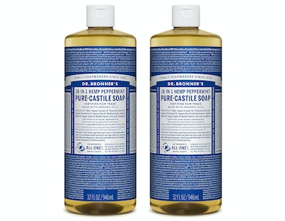 Dr. Bronner's Pure-Castile Soap - Peppermint (2 Pack)