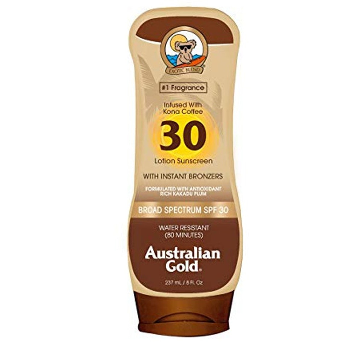 Australian Gold SPF 30 Lotion Sunscreen With Instant Bronzer