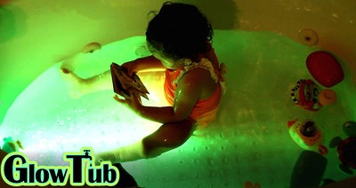 GlowTub Underwater Remote Controlled LED Color Changing Light