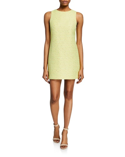 Clyde Sleeveless Tweed Mini Dress