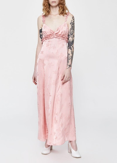 Ruffle Trim Cami Dress